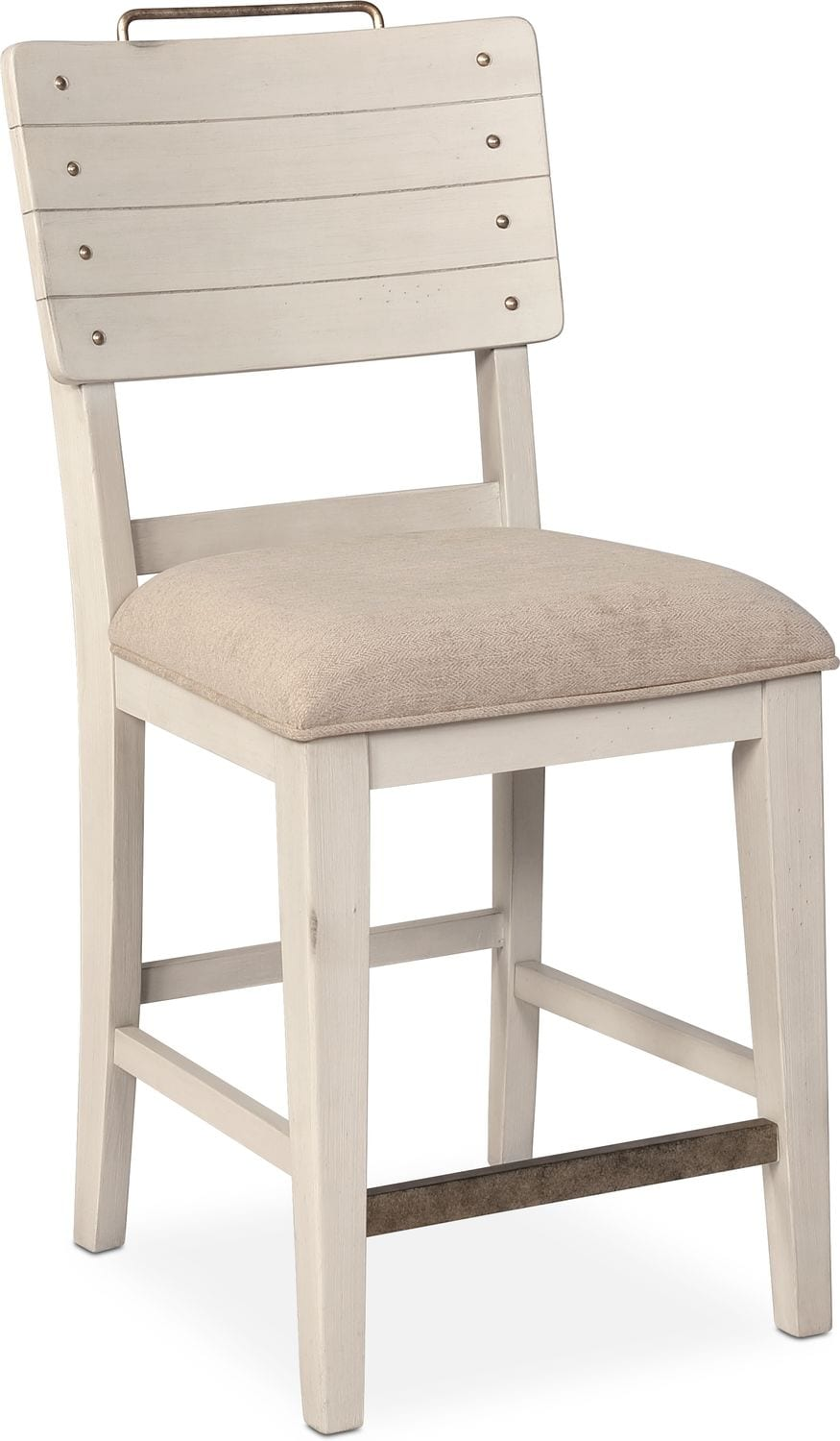 New Haven Counter Height Shiplap Stool White American