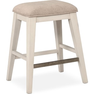 New Haven Counter-Height Backless Stool - White