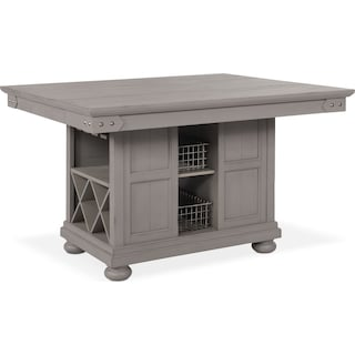 New Haven Kitchen Island - Gray