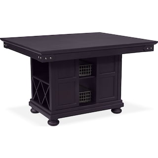 New Haven Kitchen Island - Black