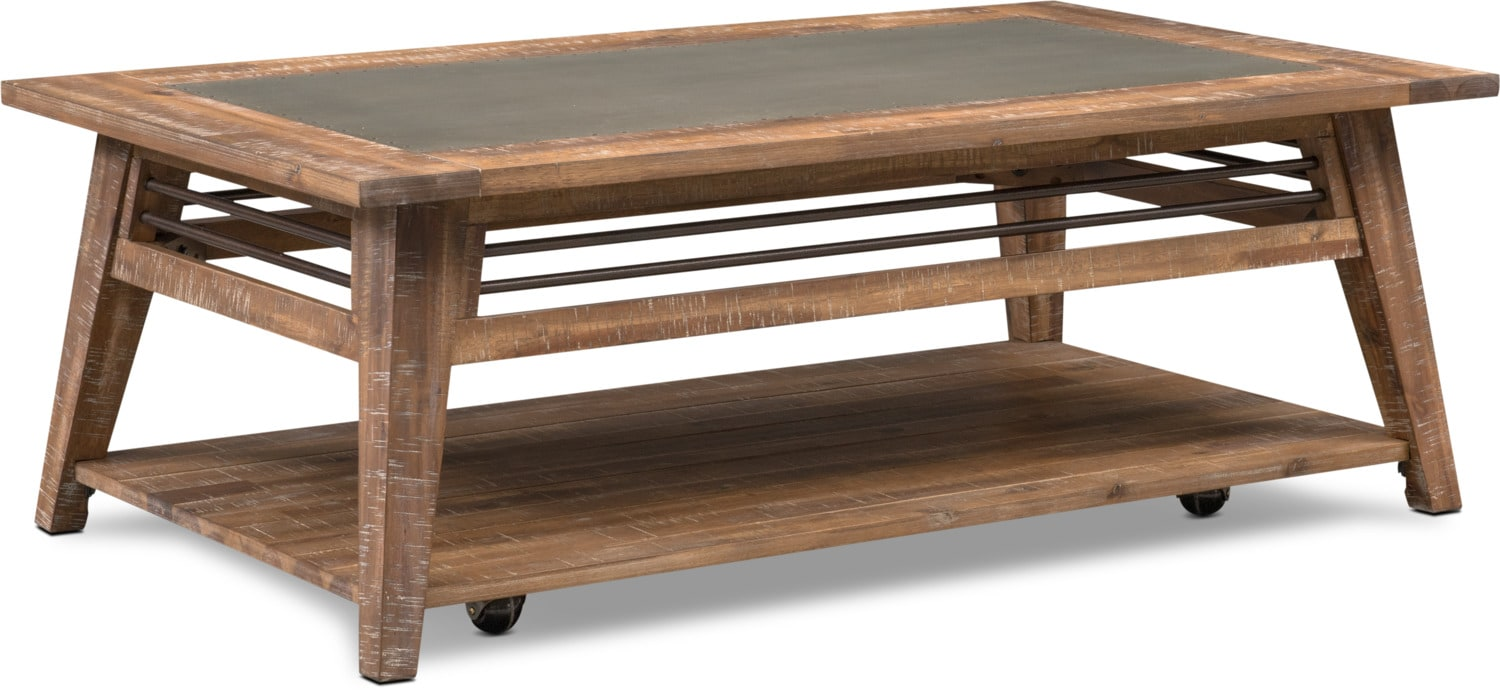 ... Accent And Occasional Furniture   Colt Coffee Table   Distressed Natural