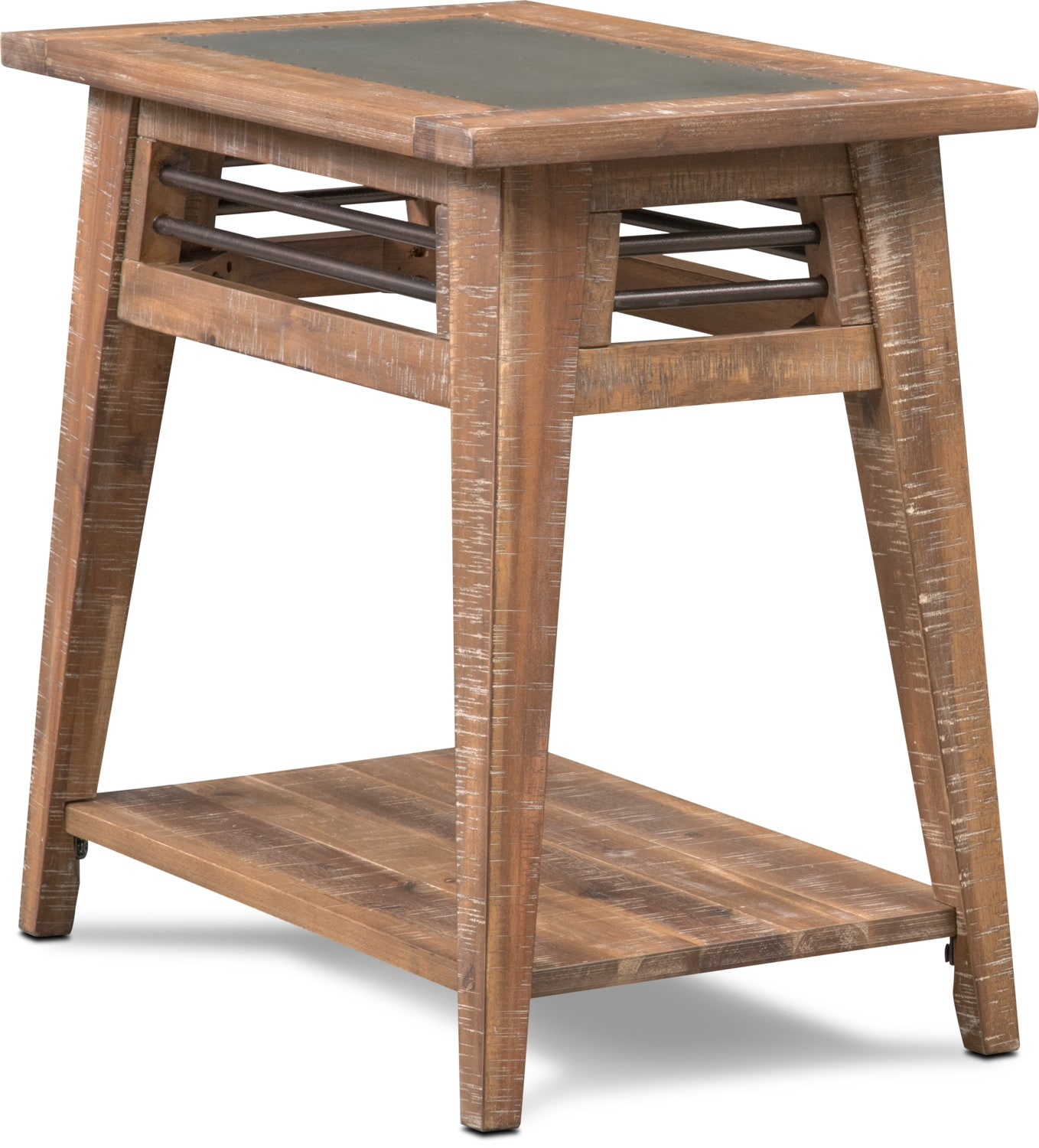 Accent and Occasional Furniture - Colt Chairside Table - Distressed Natural