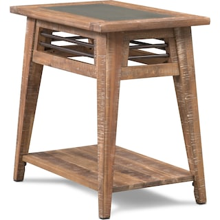 Colt Chairside Table - Distressed Natural