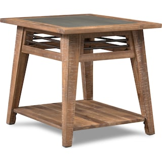 Colt End Table - Distressed Natrual