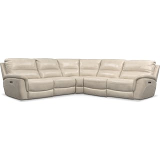 Avanti 5-Piece Triple Power Reclining Sectional with 3 Reclining Seats