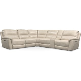 Avanti 6-Piece Triple Power Reclining Sectional with 2 Reclining Seats