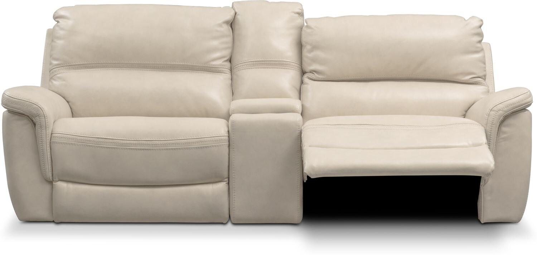 Avanti 3 Piece Triple Power Reclining Sofa Pearl