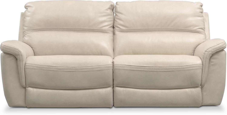 Avanti 2 Piece Triple Power Reclining Sofa Pearl
