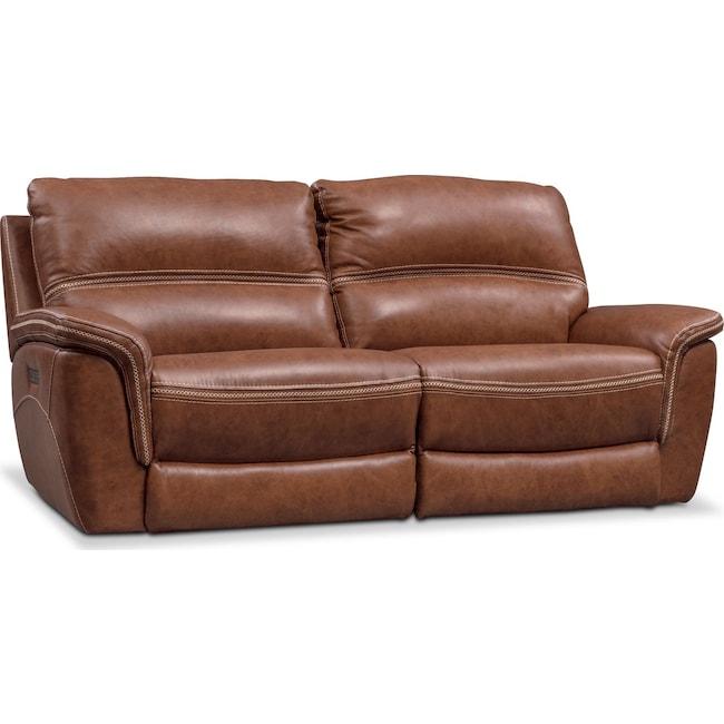 Living Room Furniture - Avanti 2-Piece Power Reclining Sofa