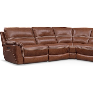 Avanti 6-Piece Triple Power Reclining Sectional with 3 Reclining Seats