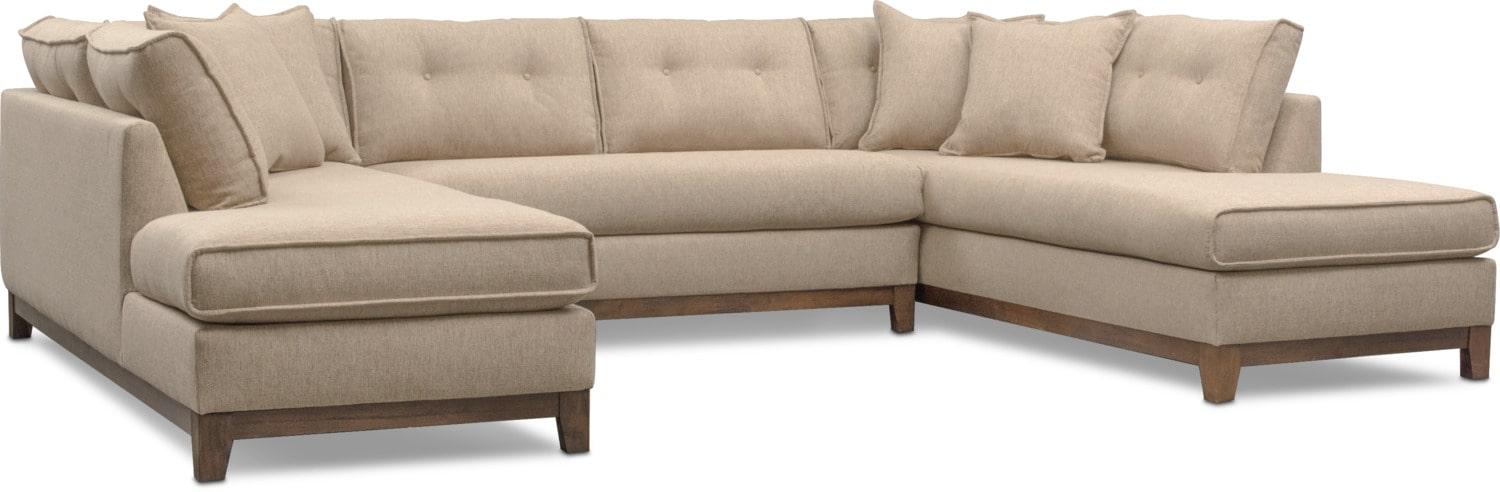 Living Room Furniture - Eastwood 3-Piece Large Sectional - Beige
