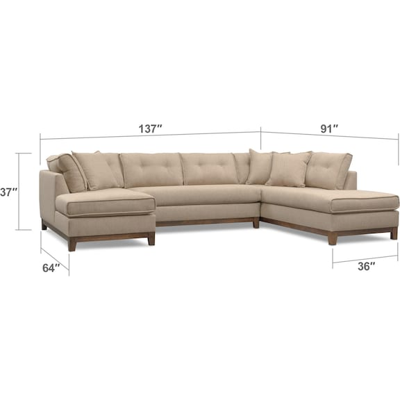 Eastwood 3 Piece Right Facing Sectional And Swivel Chair