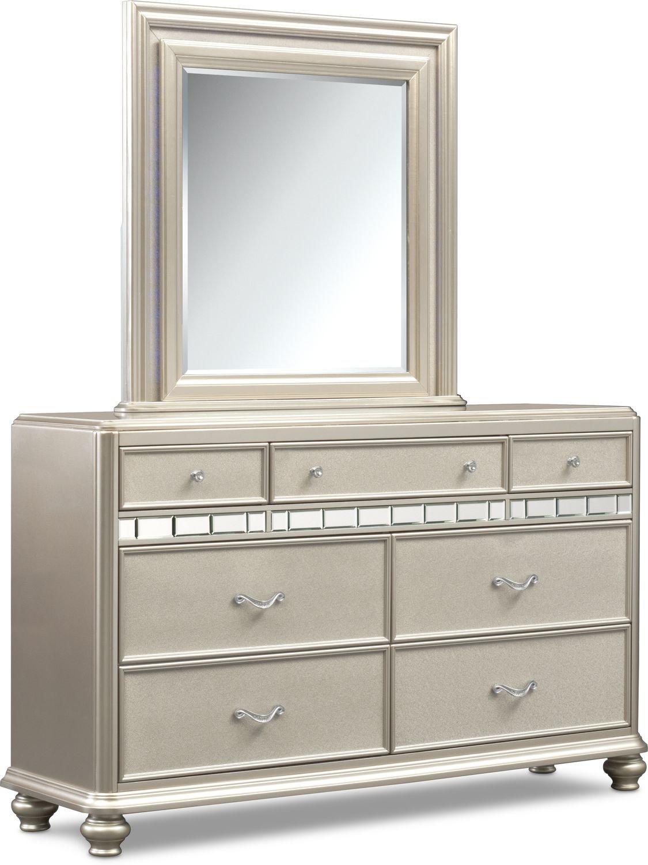 Sabrina Dresser and Mirror