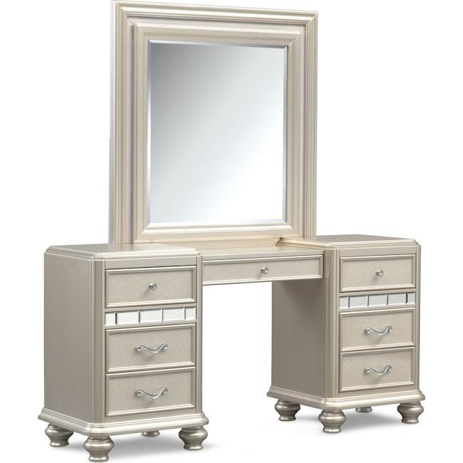 Bedroom Furniture - Sabrina Vanity Desk and Mirror