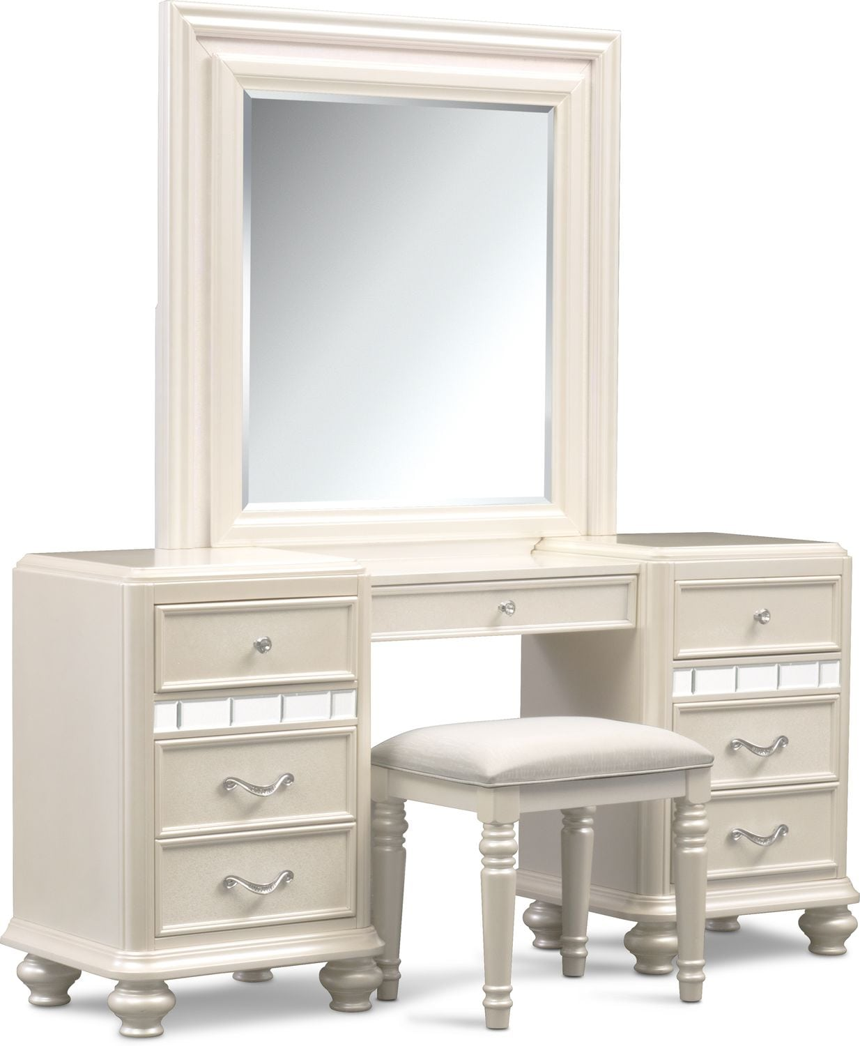 Bedroom Furniture - Sabrina Vanity, Mirror and Bench