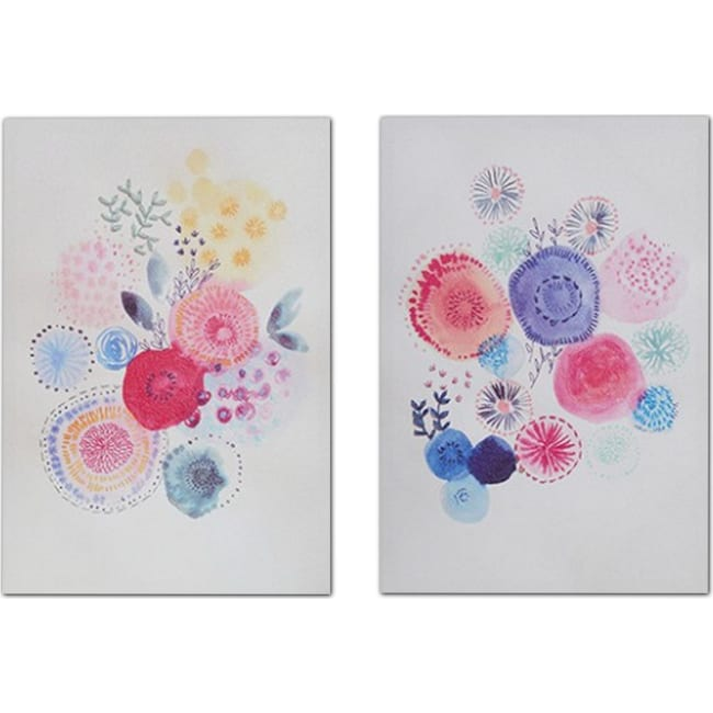 Accent and Occasional Furniture - Sweet Candy Garden 2-Piece Canvas Set