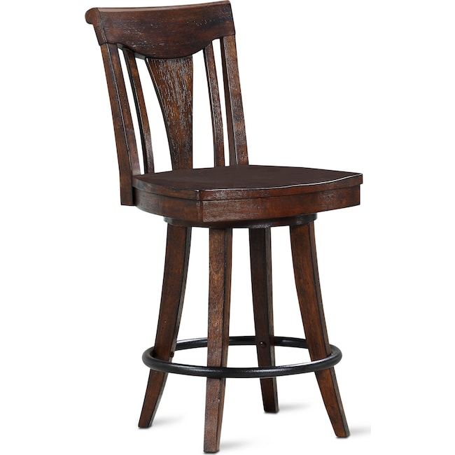 Dining Room Furniture - Sheffield Counter-Height Stool - Walnut