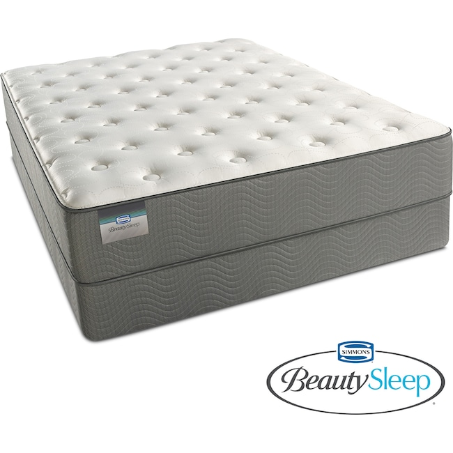 Mattresses and Bedding - Alpine White Plush King Mattress and Split Foundation Set