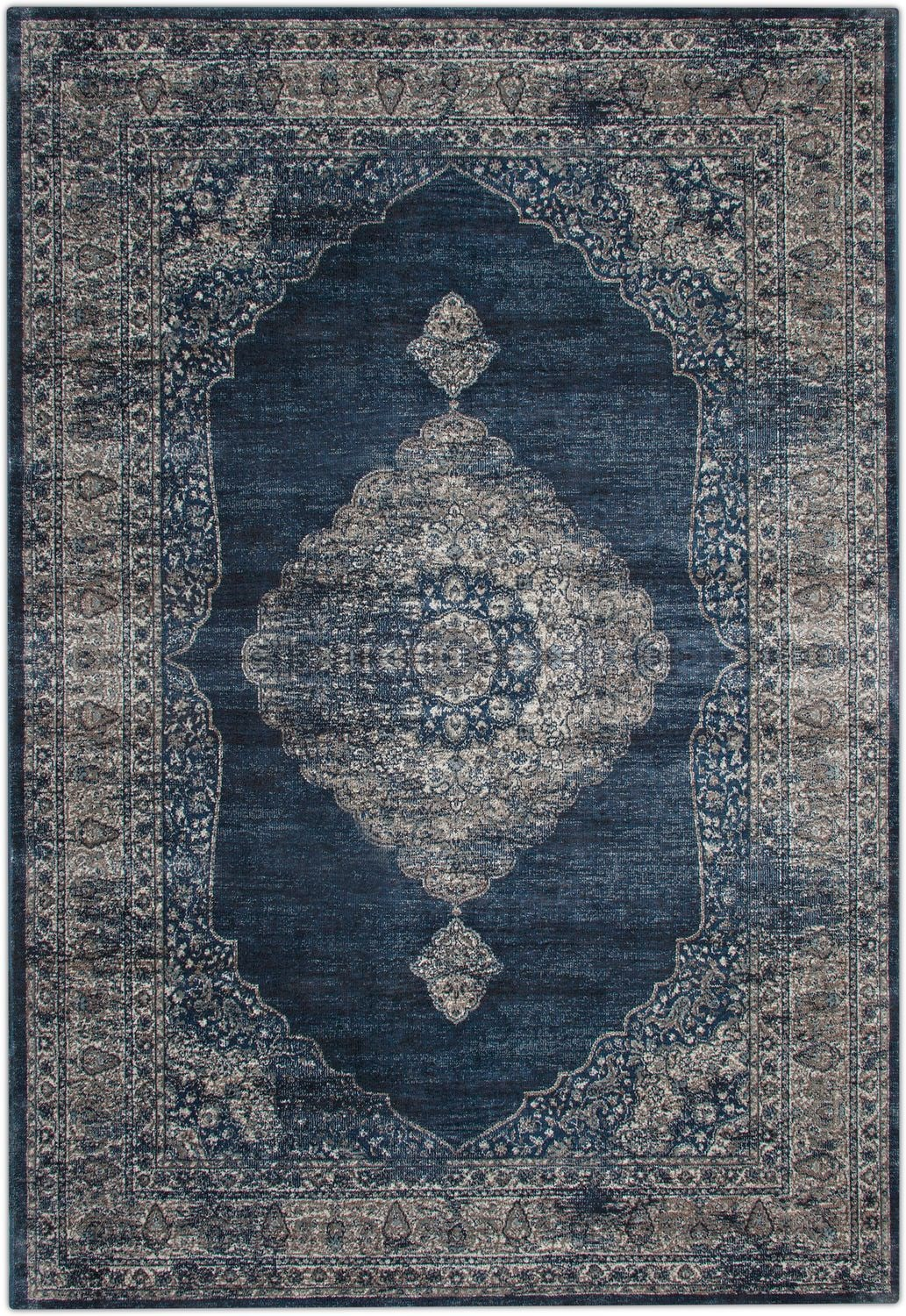 Rugs - Sonoma Area Rug - Blue and Gray