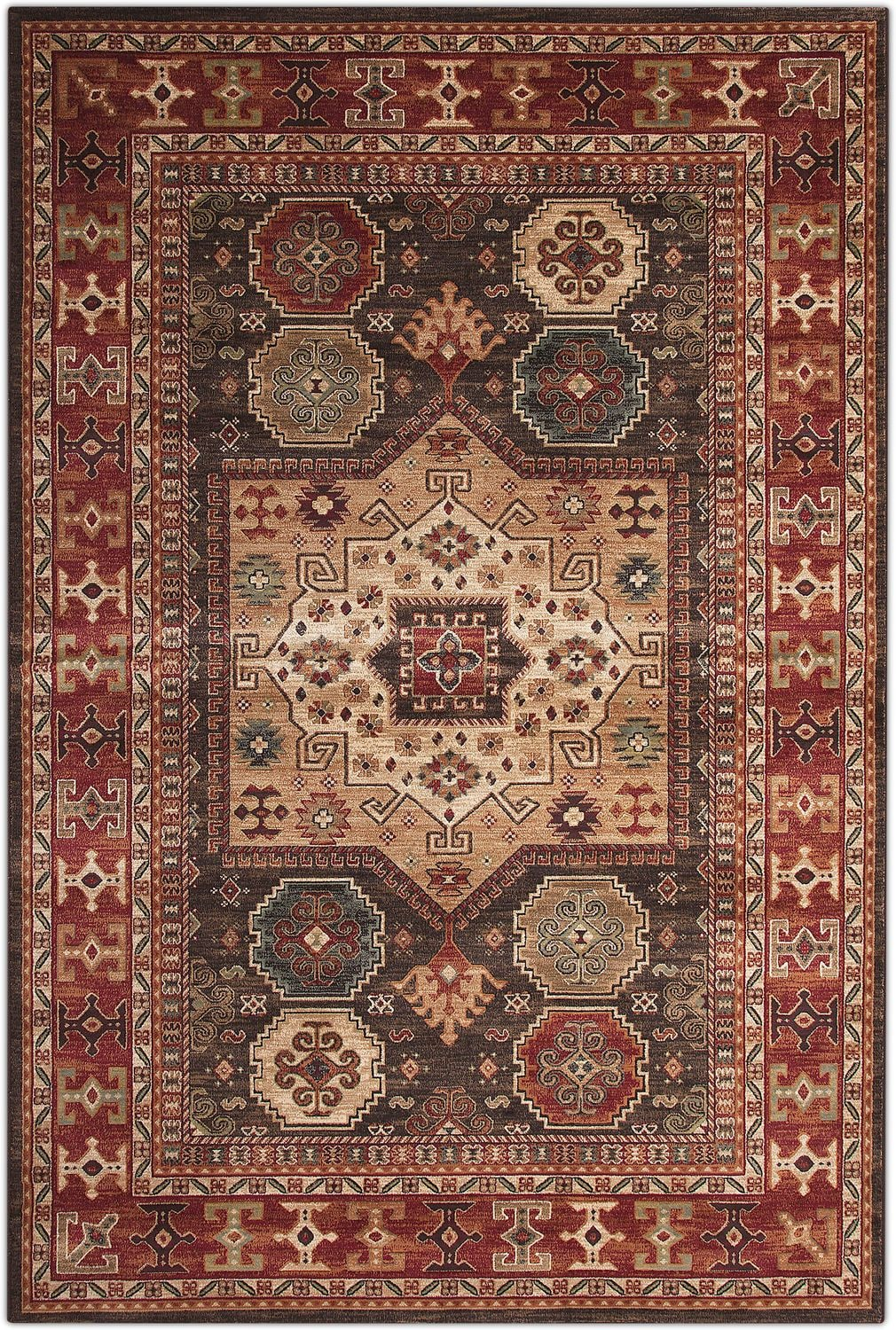 Rugs - Sonoma Area Rug - Chocolate and Red