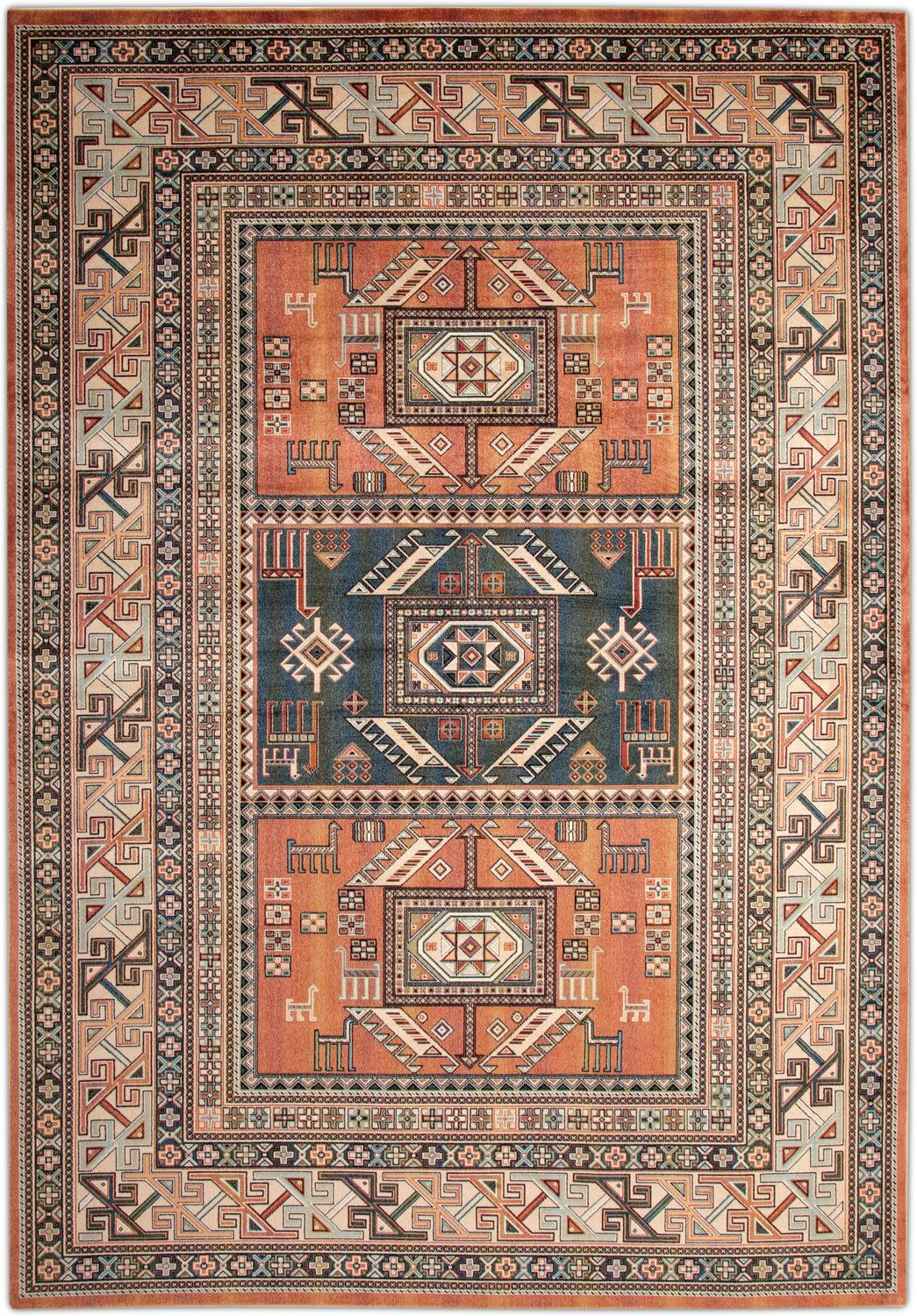 Rugs - Sonoma Area Rug - Aqua and Copper