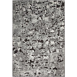 Napa 5' x 8' Area Rug - Gray and Black