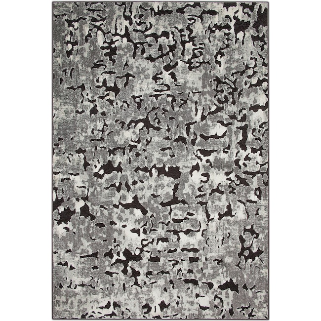 Rugs - Napa Area Rug - Gray and Black