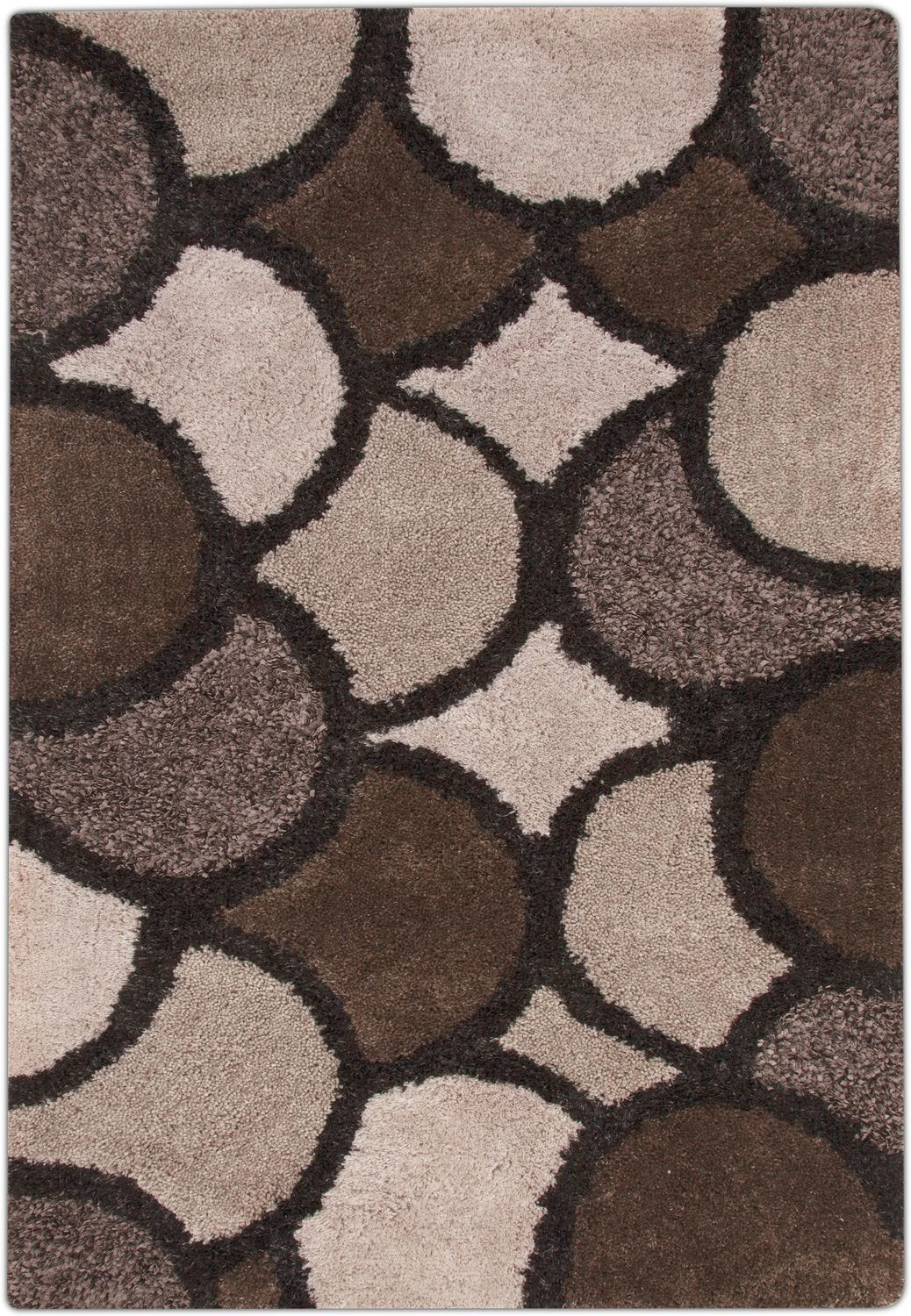 Rugs - Lifestyle Disco Area Rug - Beige