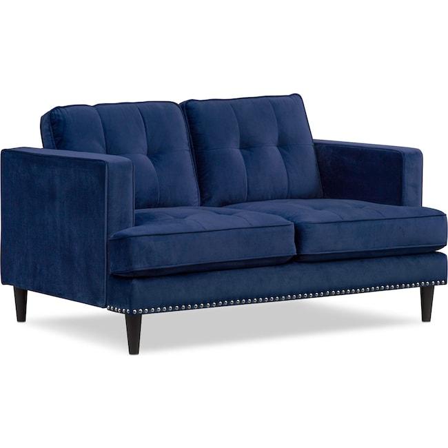 Living Room Furniture - Parker Loveseat - Indigo