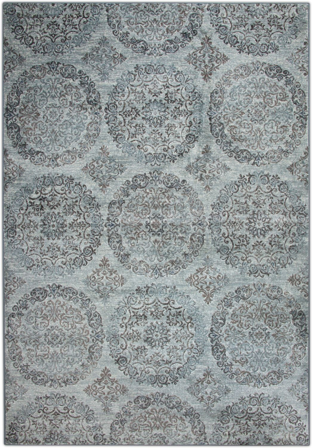 Rugs - Sonoma 5' x 8' Area Rug - Beige and Light Blue