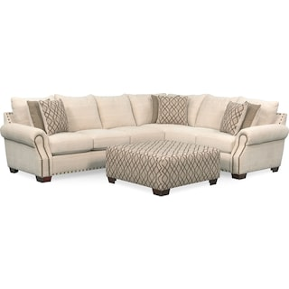 Bolton 2-Piece Sectional with Left-Facing Sofa and Cocktail Ottoman