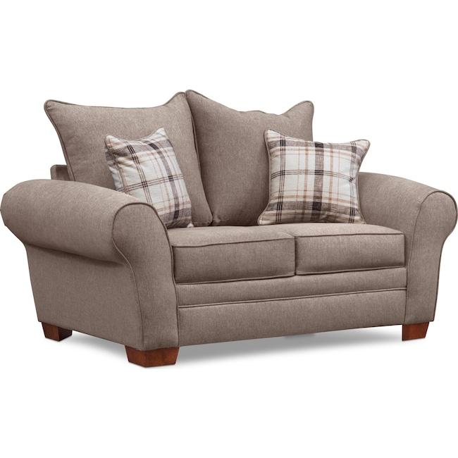 Living Room Furniture - Rowan Loveseat - Gray