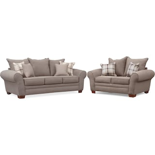 Rowan Sofa and Loveseat Set - Gray