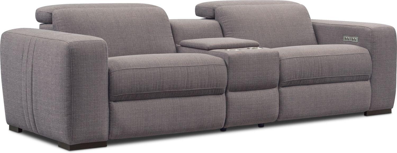 Living Room Furniture - Tino 3-Piece Dual Power Reclining Sofa