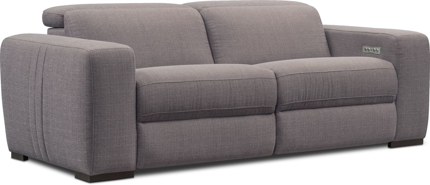 Living Room Furniture - Tino 2-Piece Dual Power Reclining Sofa