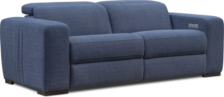 Living Room Furniture - Tino 2-Piece Dual-Power Reclining Sofa