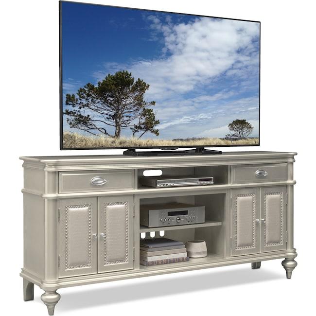 """Entertainment Furniture - Esquire 76"""" TV Stand - Platinum"""
