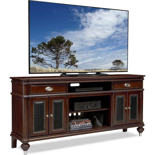 "Entertainment Furniture - Esquire 76"" TV Stand - Merlot"