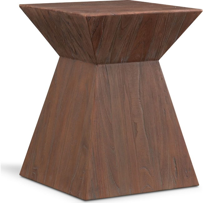 Accent and Occasional Furniture - Cairo End Table - Reclaimed Elm