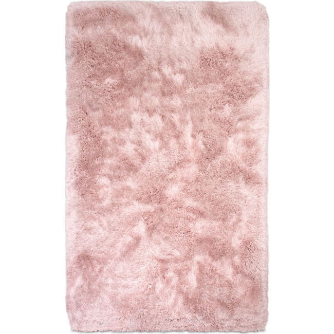 Rugs - Sparkle Shag Area Rug - Rose Quartz