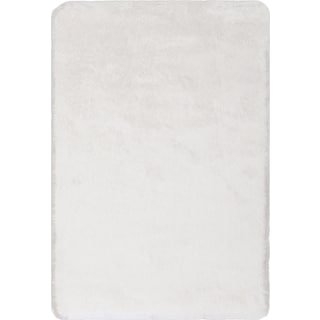 Sparkle Shag Area Rug - White Gold
