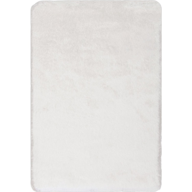 Rugs - Sparkle Shag Area Rug - White Gold