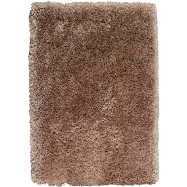 Rugs - Sparkle Shag Area Rug - Champagne