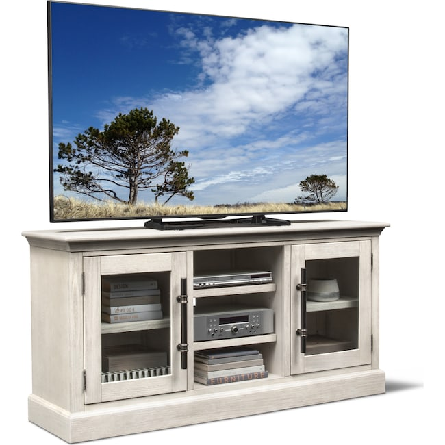"Entertainment Furniture - Telluride 66"" TV Stand - Water White"
