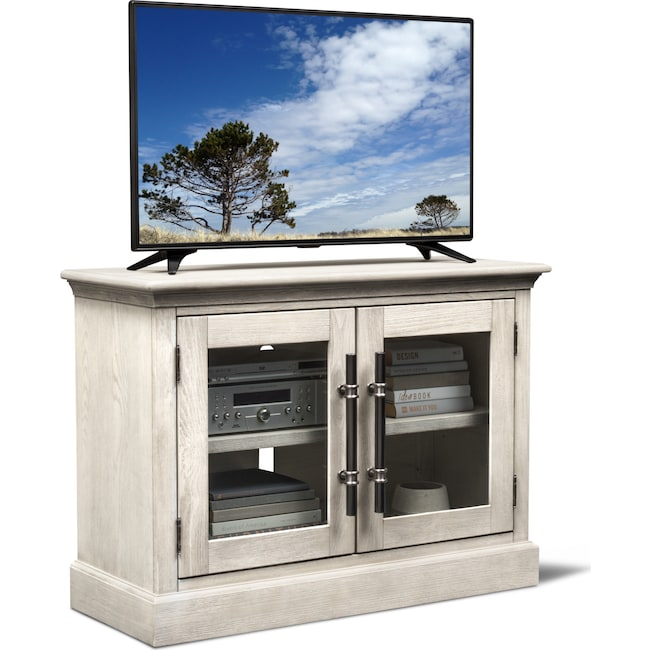 "Entertainment Furniture - Telluride 45"" TV Stand - Water White"