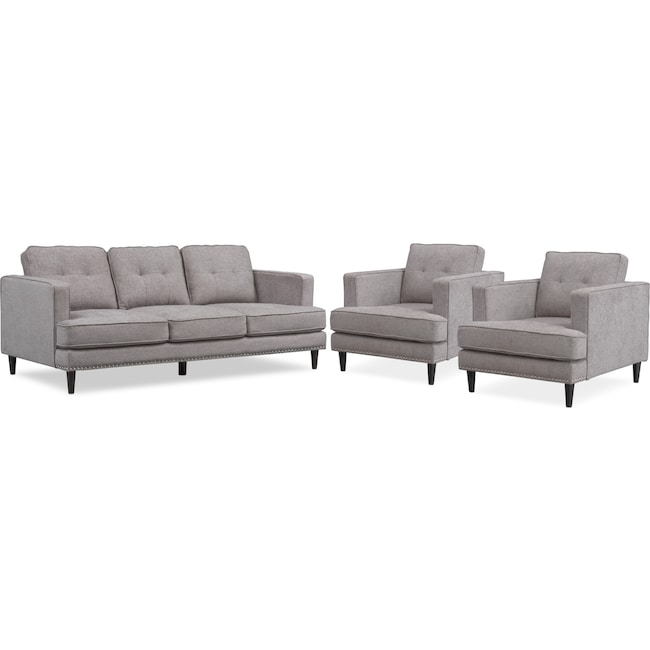 Living Room Furniture - Parker Sofa and 2 Chairs