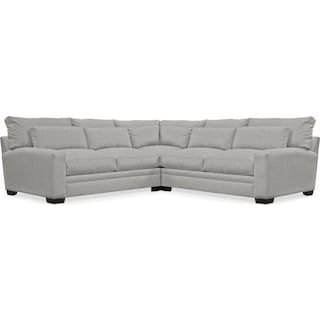 Winston Comfort 3-Piece Sectional - Dudley Gray