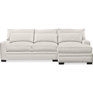 Winston Comfort 2-Piece Sectional with Right-Facing Chaise - Anders Ivory