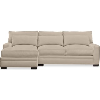 Winston Comfort 2 Piece Sectional with Left-Facing Chaise - Depalma Taupe