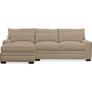 Winston Comfort 2 Piece Sectional with Left-Facing Chaise - Millford II Toast